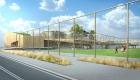 vue du projet coté stade de foot