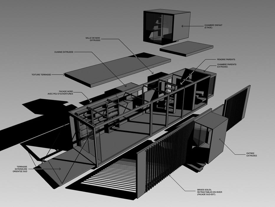 Drophouse d3 architectes for Algeco maison individuelle