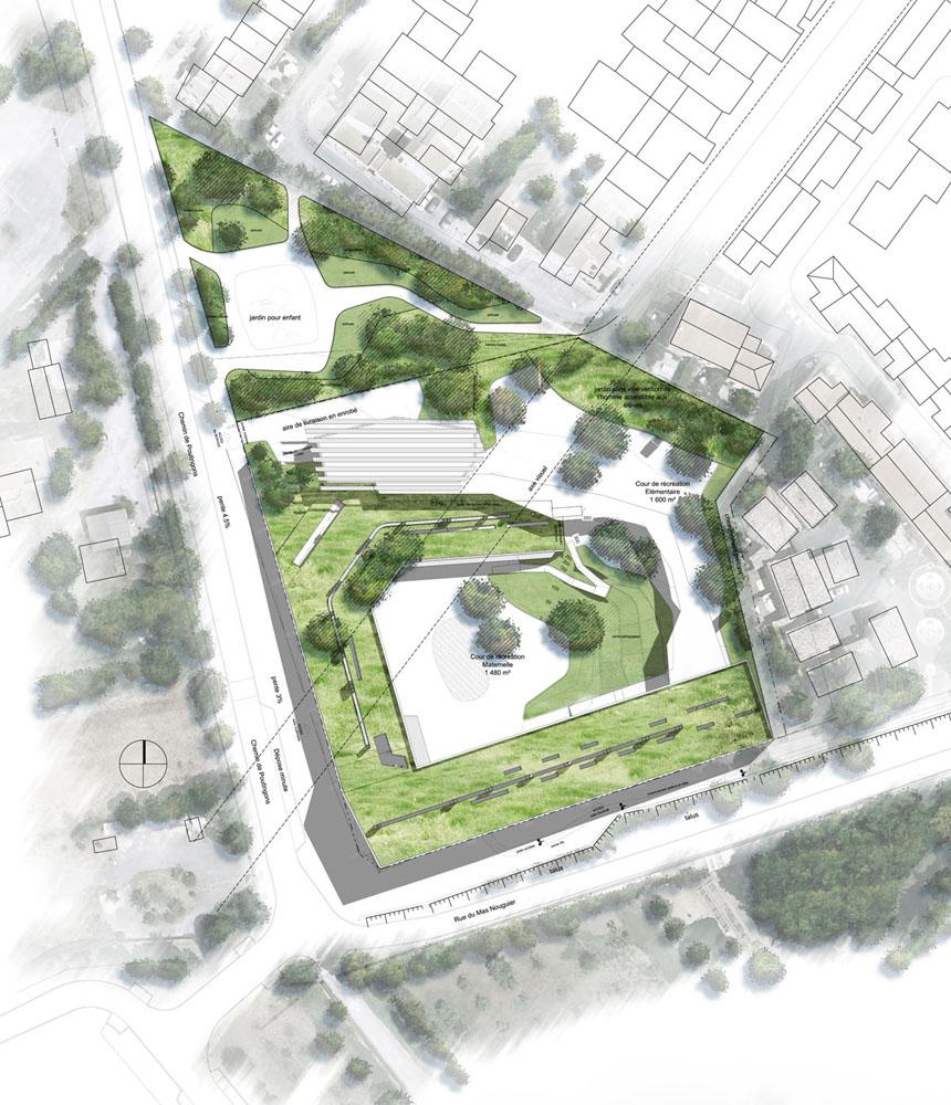 Bepos d3 architectes for Architecture triangulaire