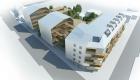 perspective aerienne du projet de logements