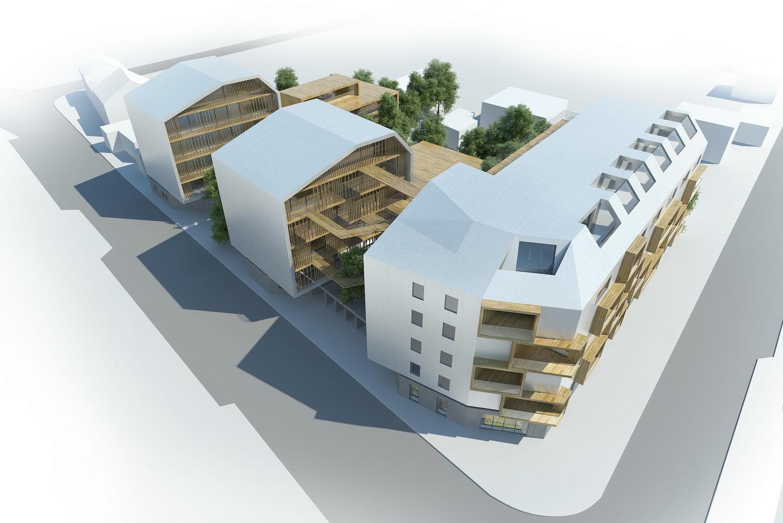 Projets de logements d3 architectes for Projet appartement