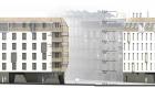 façade Nord des logements