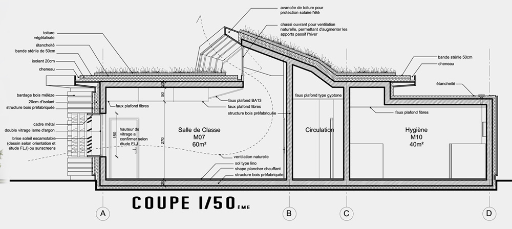 B timent neuf d3 architectes page 2 - Coupe toiture vegetalisee ...
