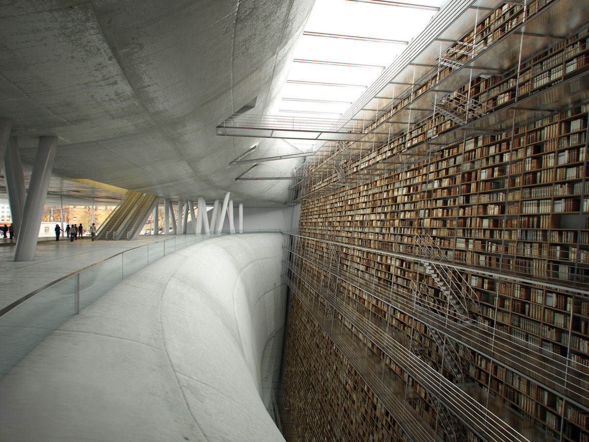 intérieur bibliothèque de stockholm
