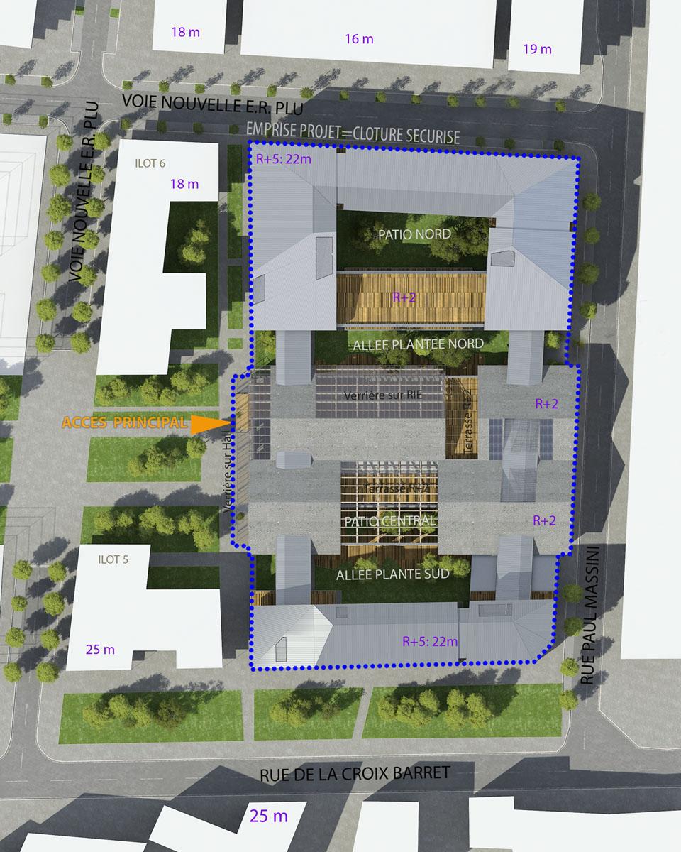 b timent neuf d3 architectes. Black Bedroom Furniture Sets. Home Design Ideas