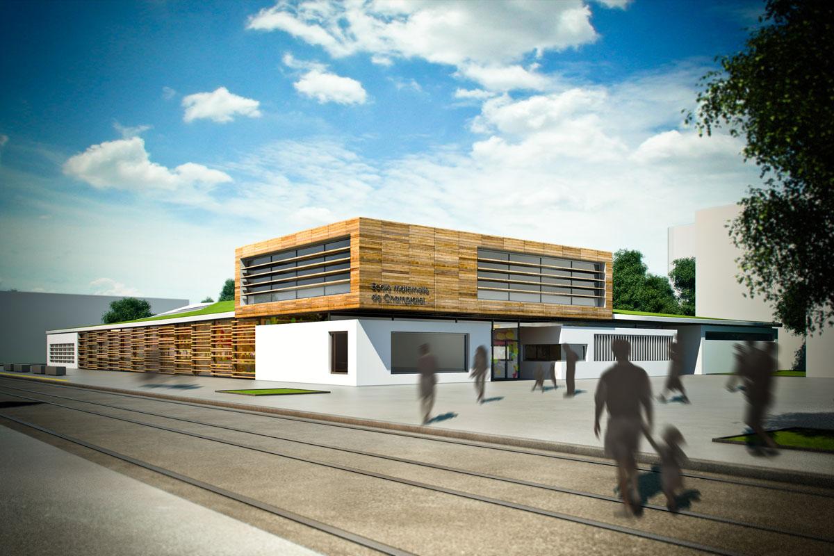 groupe scolaire de clermont d3 architectes. Black Bedroom Furniture Sets. Home Design Ideas