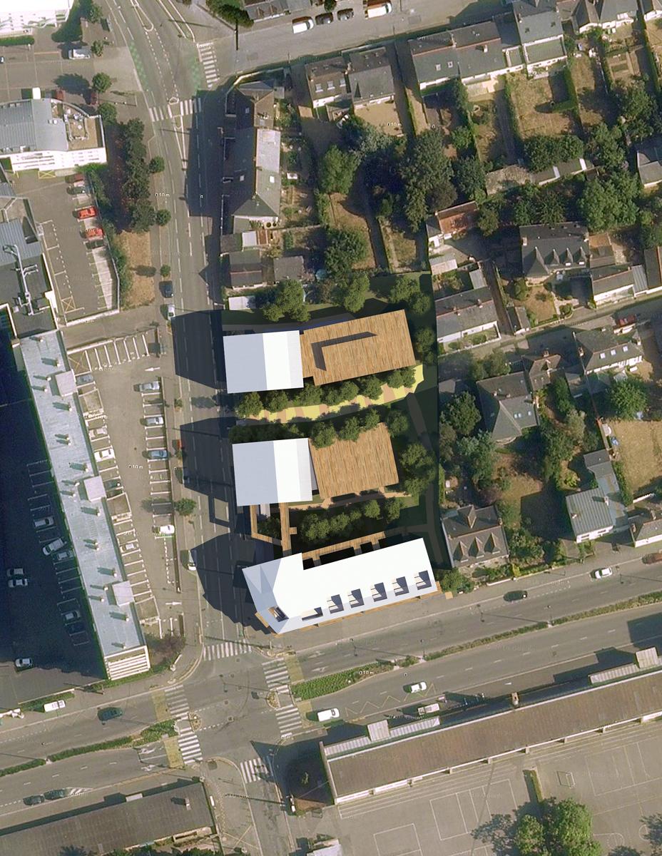 Ensemble immobilier rennes d3 architectes for Architectes rennes